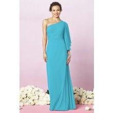 Lux Chiffon Turquoise Blue Bridesmaid Dresses TET393 - $106.00