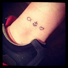 Faith Hope Charity Tattoo Faith, hope and love.