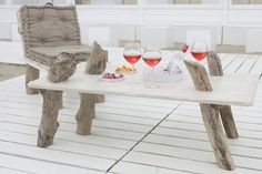 Luxurious driftwood furniture from the world's beaches