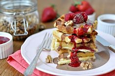 Bruselské vafle Kitchen Stories, Bread Baking, Sweet Recipes, Pancakes, French Toast, Treats, Cooking, Breakfast, Food