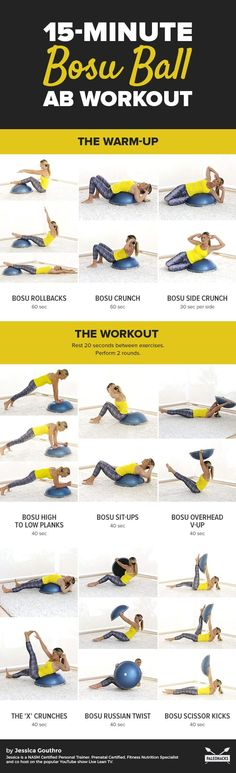 This bosu ball ab workout tightens and tones your abs from every angle. Do this This bosu ball ab workout tightens and tones your abs from every angle. Fitness Workouts, Bosu Workout, Lower Ab Workouts, Fitness Motivation, At Home Workouts, Ball Workouts, Ab Exercises, Workout Ball, Quick Workouts