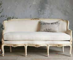 Vintage French sofa from The Paris Apartment