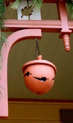 Acorn Lantern Maple Leaf Design by thelittlemillstudio on Etsy