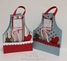 Christmas Apron Card by LorriHeiling - Cards and Paper Crafts at Splitcoaststampers