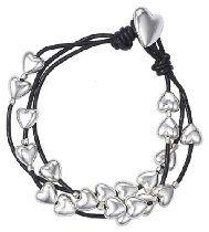 Pilgrim Women's Bracelet Leather Silver