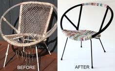 Upcycle Style: Vintage Saucer Chair Makeover | My Poppet Makes