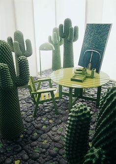 Installation with hallstands Cactus from Guido Drocco and Franco Mello, 1971 for Gufram © Aldo Ballo + Marirosa Toscani Ballo, Milano, 1973