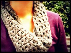 Crochet Scarf Cowl - Broomstick Lace  Cuello Bufanda Punto Escoba Crochet  Video tutorial www.ahuyamacrochet.com