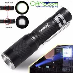 ONLY $5.00 WAS $19.99 Zoomable 4000LM CREE XM-L Q5 LED Flashlight 3 Mode Torch Super Bright Light Lamp  Introductions:  Sky Wolf Eye Cree XM-L Q5 4000lm 3-Mode Waterproof Lotus Head LED Flashlight Suit Black is a cost-effective trade-off. Powered by 18650 battery, it is stable for long-term working. Its most outstanding feature should be the variable focus, so you can adjust it to meet your demand. Also, with a strap, it is convenient to carry.