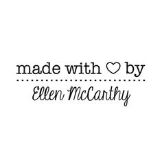 CUSTOM MADE with LOVE rubber stamp  personalized by DoodleStamp