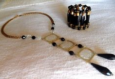 mid century Haskell bracelet Freirich necklace Egyptian Revival Set FREE ship #MiriamHaskellFreirich #MidCenturyEgyptianRevivalDesigner