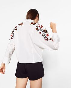 Image 5 of FLORAL EMBROIDERED SHIRT from Zara
