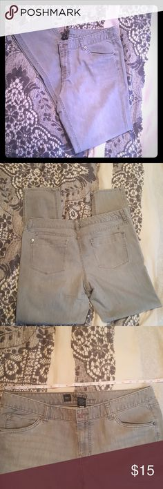 Gray Skinny Jeans Mossimo gray skinny jeans with an acid wash type look. In good used condition. Mossimo Supply Co Jeans Skinny