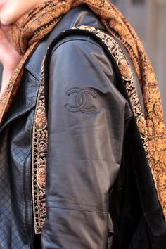 Leather Chanel jacket