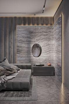 Ivan Honcharenko on Behance Room Design Bedroom, Master Bedroom Interior, Modern Master Bedroom, Home Room Design, Modern Bedroom Design, Bed Design, Bedroom Decor, Modern Luxury Bedroom, House Design