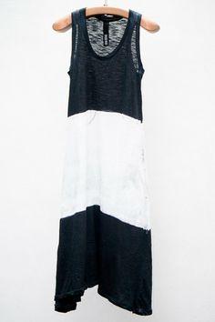 Black & White Trapeze Dress