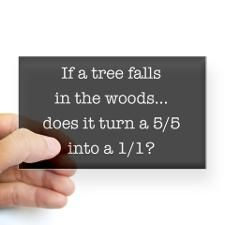 If a tree falls in the woods, does it turn a 5/5 into a 1/1?