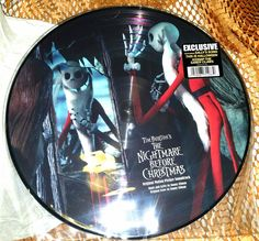 """!!Limited Edition Nightmare Before Christmas Soundtrack Painted Record Discs.  Includes 2 playable decorated soundtrack record discs from the famous Tim Burton movie, """" Nightmare Before Christmas """".  Item comes brand new in sealed packaging.  Great collectors item!!! 
