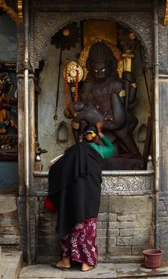 Surrender is not an act, it is a state of your being.  Photo: Narasimha, Kathmandu