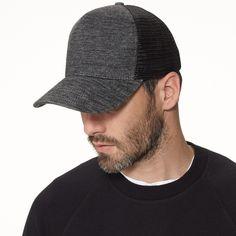 Heather Black Tri Blend James Perse Trucker Hat