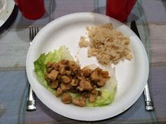 The Beautiful things in Life: Chicken Lettuce Wraps - 17 Day Diet Recipe