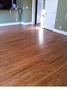 Red Oak With Duraseal Special Walnut Stain Amp Bona Traffic