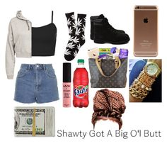 """""""Lit Like Bic~Rae Sremmurd"""" by slayykaee ❤ liked on Polyvore featuring Topshop, HUF, Timberland, Aéropostale and NIKE"""
