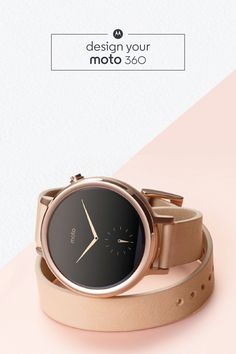 The Moto 360 smartwatch is a one-of-a-kind fashion accessory that pairs perfectly with your favorite outfits. With fully customizable style features like the capability to choose a leather or metal band, and the ability to connect from mobile wirelessly, this beautiful statement piece is as functional as it is trendy.