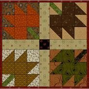 Maple Leaf Block (picture shows it made into a doll quilt)