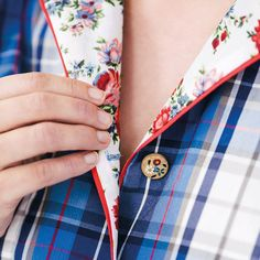 24/3 – Karierte Bluse im Pyjama-Stil