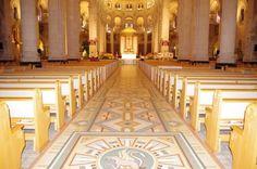St Anne de Beaupre, Quebec. Art Deco Cathedral.