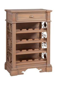 Винный шкаф Berenger- изящное произведение прикладного искусства, изготовлен из дерева в стиле шеби-шик, коричневого цвета, с открытыми витринами, боковые стенки изготовлены из деревянных кружев, вверху расположен удобный ящик. Данный аксессуар достаточно удобен, выгодно дополнит любой интерьер. Материал: Дерево. Бренд: DG Home. Стили: Прованс и кантри. Цвета: Коричневый.