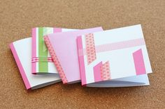 Washi paper journals or sketchbook. Easy enough and cute too. #DIY #sketchbook