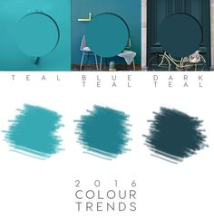 teal paint, teal colour trend, 2016 decor colours, teal home decor, teal interiors, teal walls, blue teal
