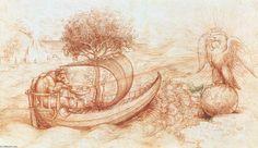 Leonardo Da Vinci-Allegorie mit wolf und adler