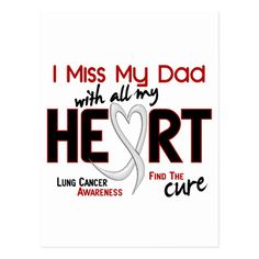 Lung Cancer I Miss My Dad Postcard