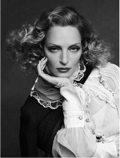 Uma Thurman in Karl Lagerfeld's The Little Black Jacket Book, 2012
