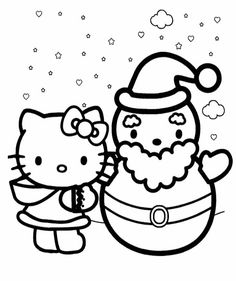 winter hello kitty coloring pages - photo#5