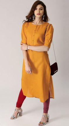 15 Office Wear Kurta Designs for Women: 2019 Plain Kurti Designs, Simple Kurta Designs, Stylish Dress Designs, Kurta Designs Women, Blouse Designs, Indian Formal Wear, Formal Wear Women, Office Wear Women Work Outfits, Outfit Work