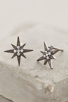 COMPASS ROSE POSTS #anthrofave #earrings #studs