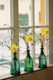 Landlust – flower arrangement – Famous Last Words Daffodil Images, Daffodil Flower, Easter Flower Arrangements, Easter Flowers, Ikebana, Yellow Roses, Purple Flowers, Graphics Fairy, Hello Spring