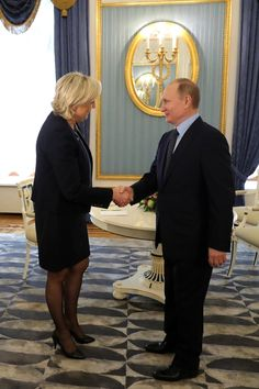 With Marine Le Pen, leader of French National Front party.
