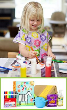 For the little artist! Citrus Lane Gift Boxes are monthly goodie boxes that kids receive in the mail.