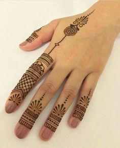 Henna Designs Back, Finger Henna Designs, Stylish Mehndi Designs, Mehndi Designs For Beginners, Mehndi Designs For Girls, Mehndi Designs For Fingers, Beautiful Mehndi Design, Mehndi Art Designs, Latest Mehndi Designs