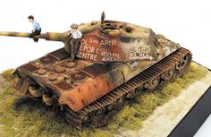 DioramaKnocked out King Tiger Tilt Shift Photography, Tiger Ii, Military Armor, Model Tanks, Armored Fighting Vehicle, Real Model, Military Modelling, Ww2 Tanks, Military Diorama