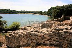 sea and ruins in national park Brioni, Croatia