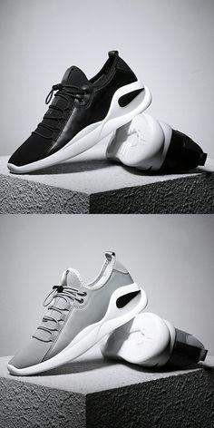 online store d8bc4 cc857 US 22.42 Prikol Swag Basic Style Brand Men Sport Shoes Breathable Leather  Man Sneaker Krasovki Dark