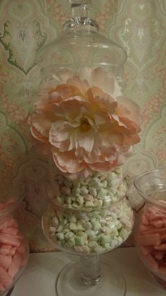 shabby chic candy and dessert buffet    sweetcandycouture.com