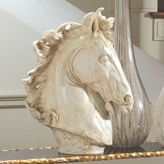 Horse Head Sculpture from www.wellappointedhouse.com #decorativeaccessories #decorate #redecorate #uniquepieces