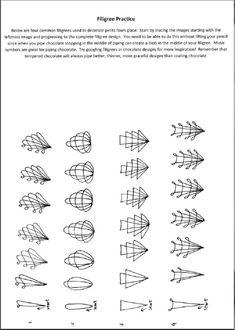 Filigree on Petit 4's practice sheet